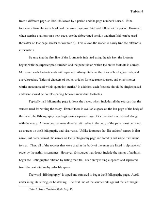 Turabian Example Paper Footnotes Sample Paper Austin Peay Stat 4