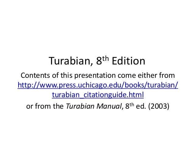 turabian style title page template