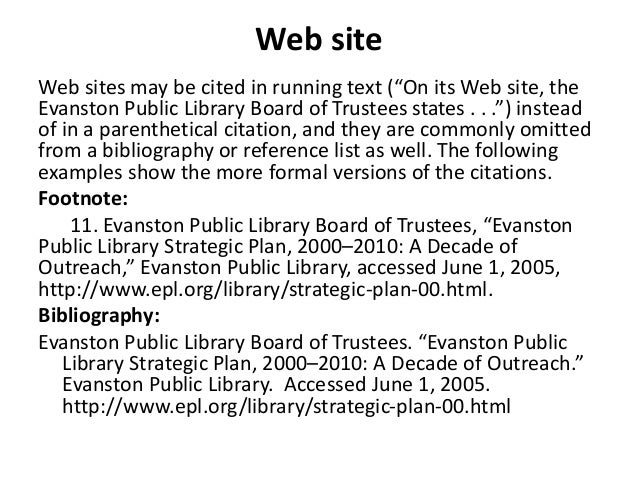 turabian format citation Chicago manual of style & turabian: format and documentation updated: 7-30-12-jm citation methods footnotes, endnotes, and the bibliography (turabian, 2007, 142-159.