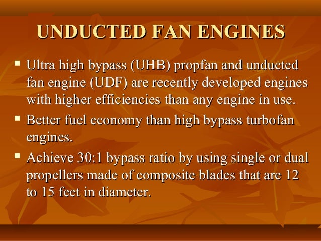 unducted fan engines