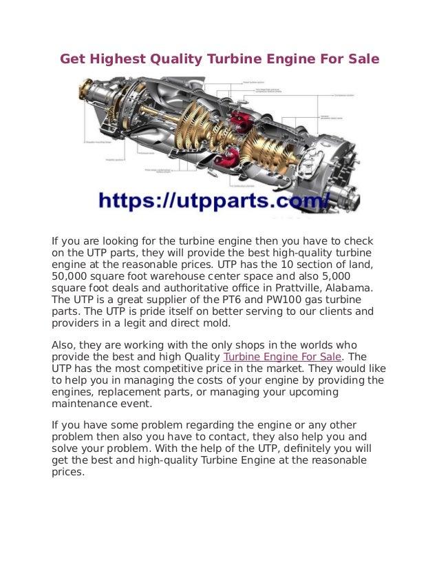 Get Highest Quality Turbine Engine For Sale