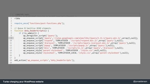 SearchLove London - 'Jono Alderson', Turbocharging your WordPress Web… slideshare - 웹