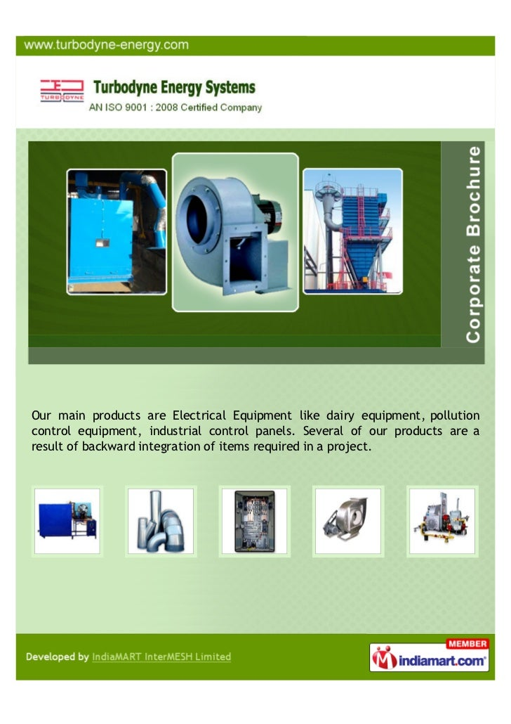Our main products are Electrical Equipment like dairy equipment, pollutioncontrol equipment, industrial control panels. Se...