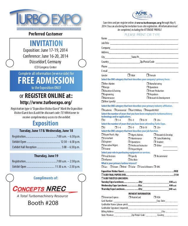 The Most Important Conference for Turbomachinery Professionals Preferred Customer Exposition: June 17-19, 2014 Conference:...