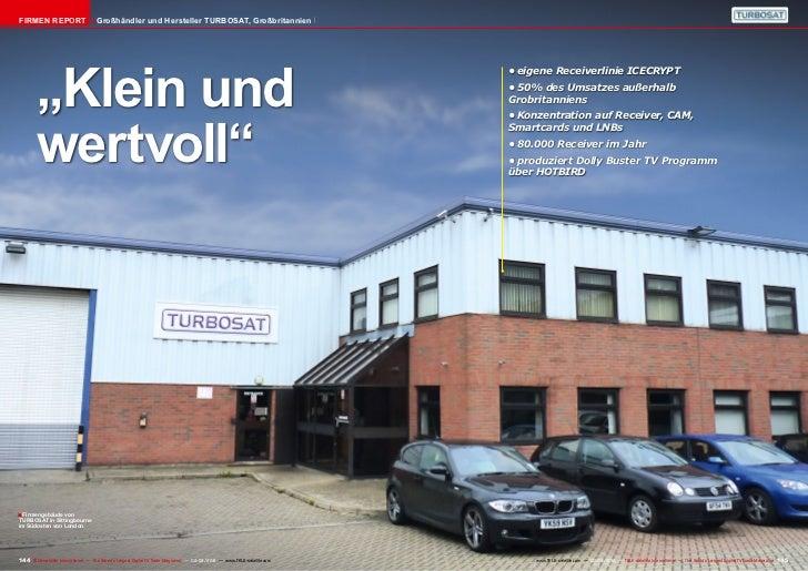 """Firmen Report                       Großhändler und Hersteller TURBOSAT, Großbritannien        """"Klein und                 ..."""