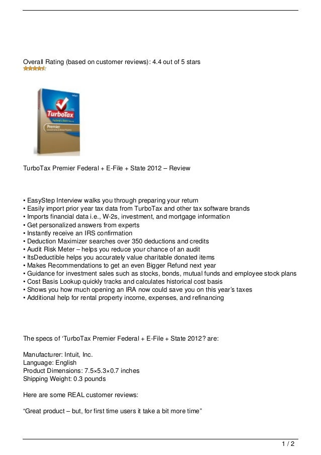 turbotax premier 2018 free download