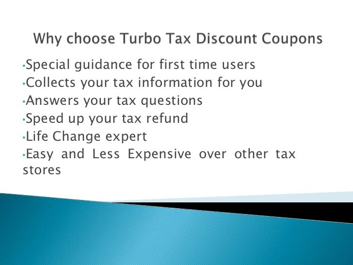 Turbo tax coupons and discounts
