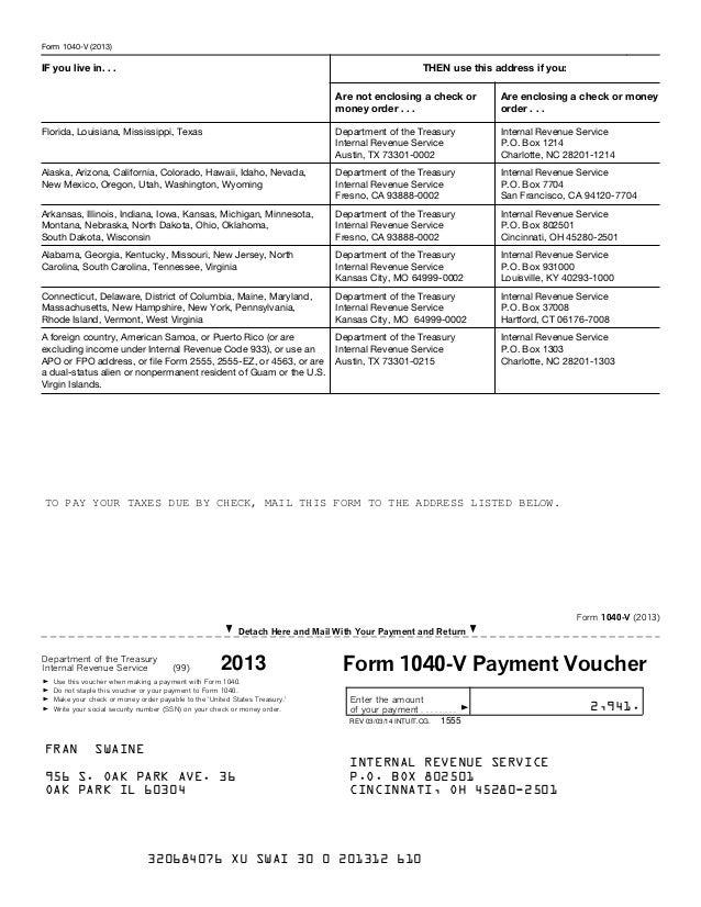 Form 1040 V 2015 Tekil Lessecretsdeparis Co