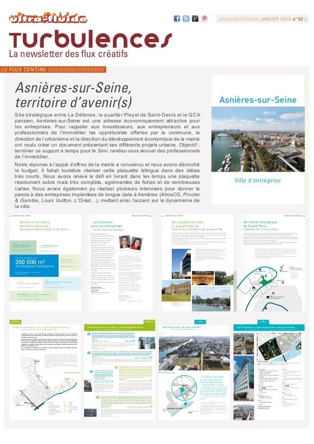 ///////////////////// J ANVIER 2013 n° 52 //   Turbulences   La newsletter des flux créatifs//// flux continu ////////////...