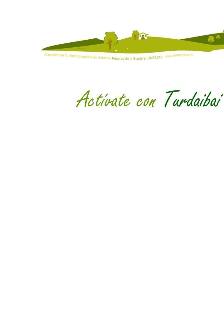 Actívate con Turdaibai                         12