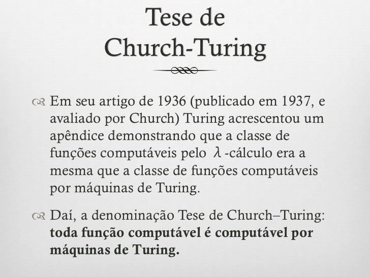 History of the Church–Turing thesis