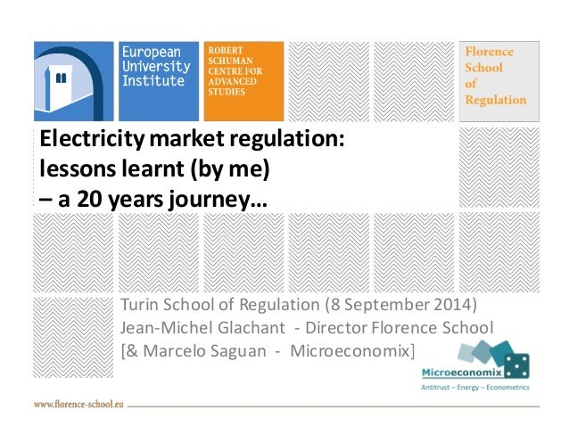 Electricity market regulation:  lessons learnt (by me)  – a 20 years journey…  Turin School of Regulation (8 September 201...