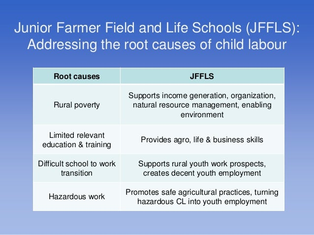 reduce child labour To help reduce harmful child labor that affects children's education and   understanding child labour beyond the standard economic assumption of  monetary.
