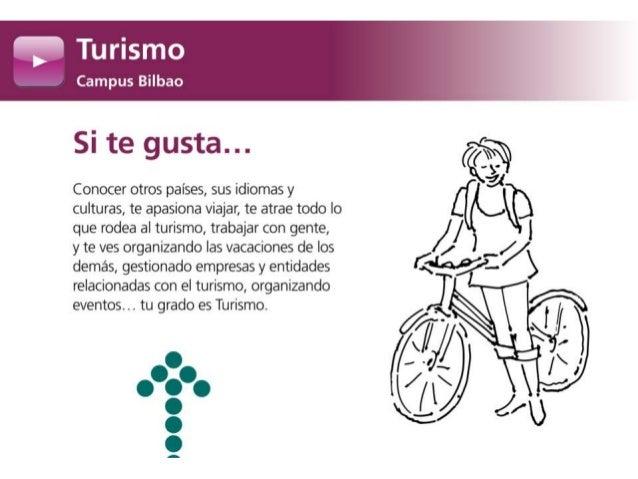 Grado en Turismo. Campus Bilbao