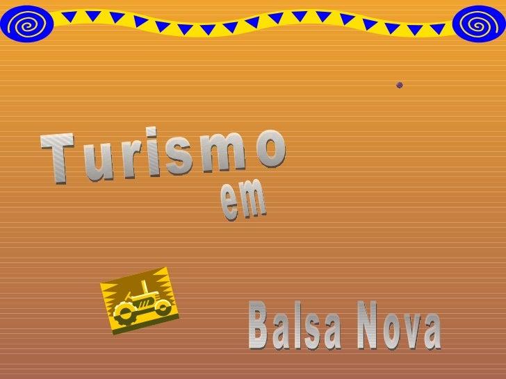 Turismo em Balsa Nova