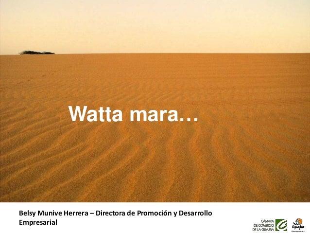 Watta mara… Belsy Munive Herrera – Directora de Promoción y Desarrollo Empresarial