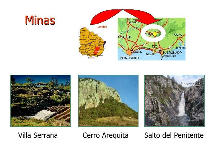 Minas Villa Serrana  Cerro Arequita  Salto del Penitente