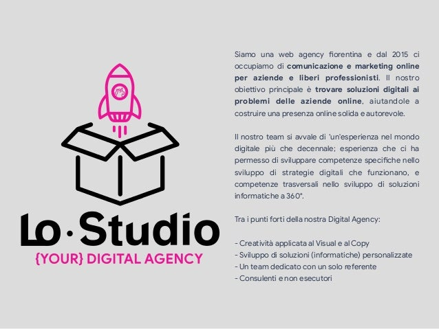 Siamo una web agency Jorentina e dal 2015 ci occupiamo di comunicazione e marketing online per aziende e liberi profession...