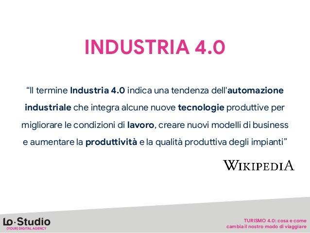 """INDUSTRIA 4.0 """"Il termine Industria 4.0 indica una tendenza dell'automazione industriale che integra alcune nuove tecnolog..."""