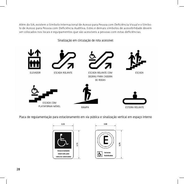 TáTilA sinalização tátil é utilizada para pessoas com deficiências visuais, por meio de caracteres e figurasem relevo e Br...