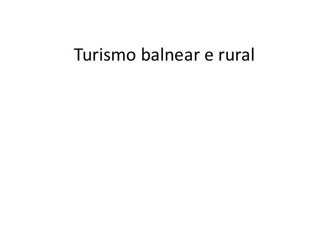Turismo balnear e rural