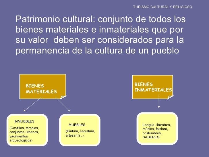 <ul><li>Patrimonio cultural: conjunto de todos los bienes materiales e inmateriales que por su valor  deben ser considerad...