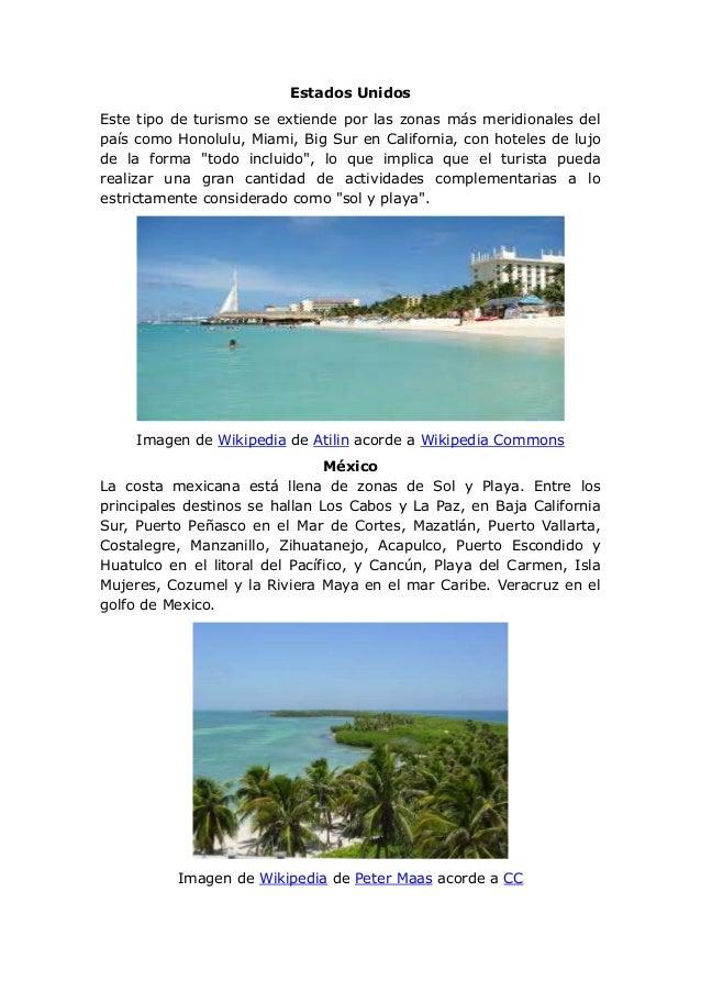 Turismo de sol y playa for Actividades que se realizan en una oficina wikipedia