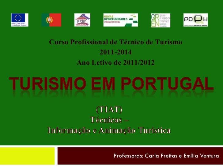 Professoras: Carla Freitas e Emília Ventura Curso Profissional de Técnico de Turismo 2011-2014 Ano Letivo de 2011/2012