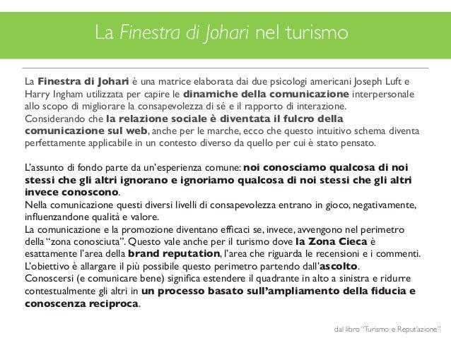 Turismo e reput 39 azione la zona cieca del turismo - Finestra di johari ...