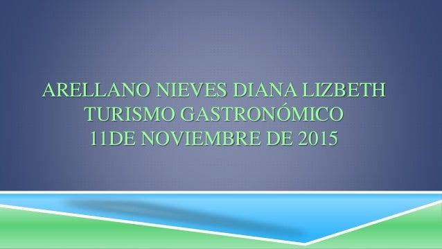 ARELLANO NIEVES DIANA LIZBETH TURISMO GASTRONÓMICO 11DE NOVIEMBRE DE 2015