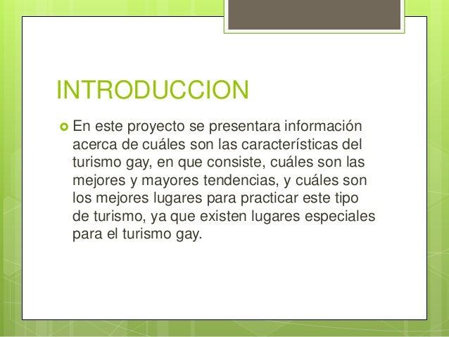 Turismo Gay Introduccion