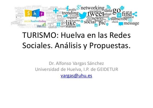 TURISMO: Huelva en las Redes Sociales. Análisis y Propuestas. Dr. Alfonso Vargas Sánchez Universidad de Huelva, I.P. de GE...