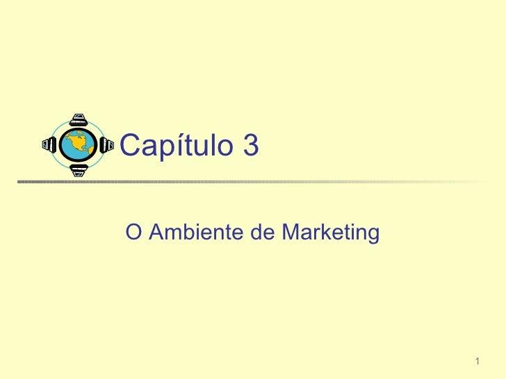 Capítulo 3O Ambiente de Marketing                          1