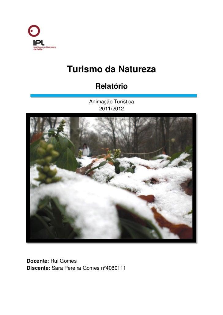 Turismo da Natureza                          Relatório                       Animação Turística                           ...