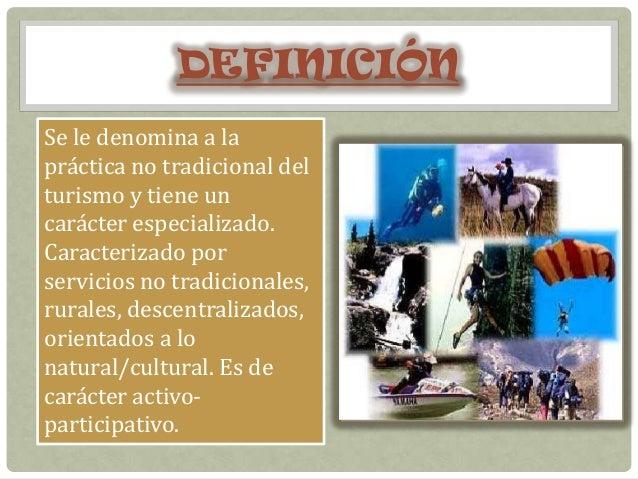 Turismo no convencional for Definicion de gastronomia pdf