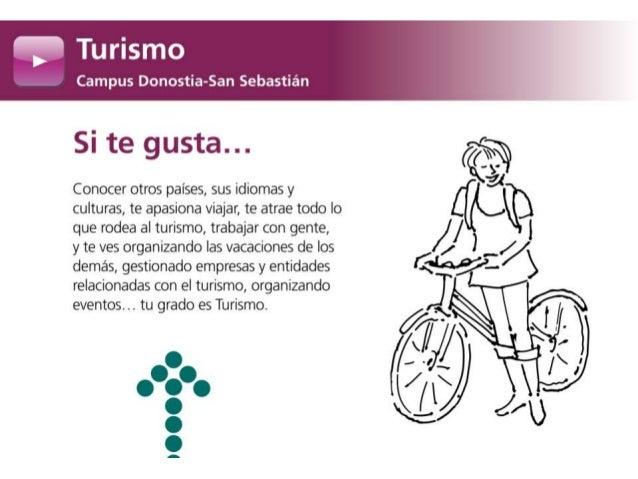 Grado en Turismo. Campus Donostia - San Sebastián