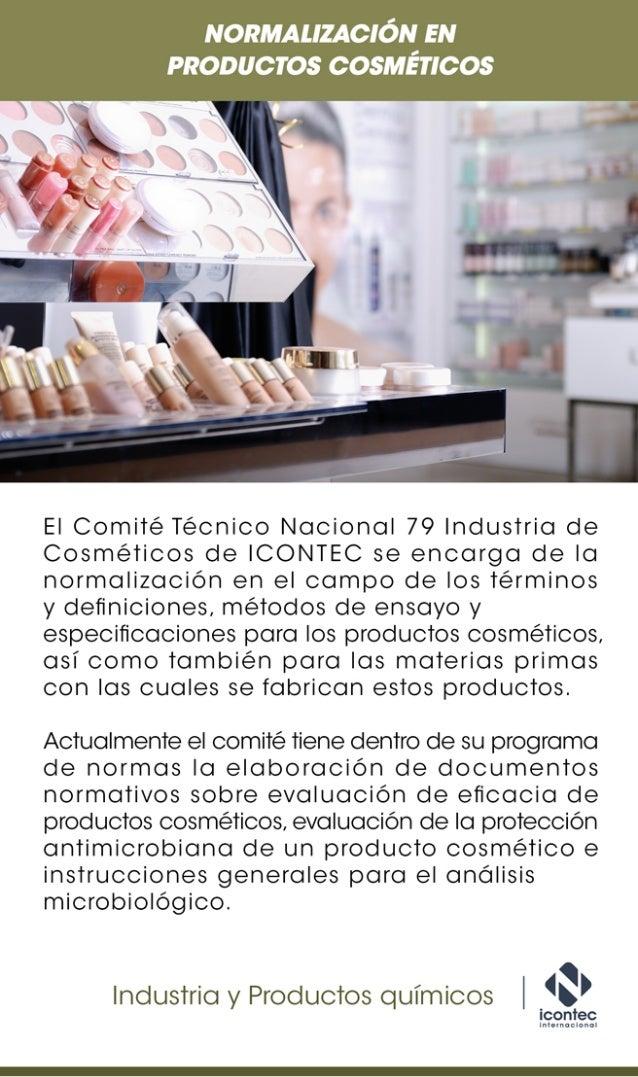 Norma en productos cosméticos
