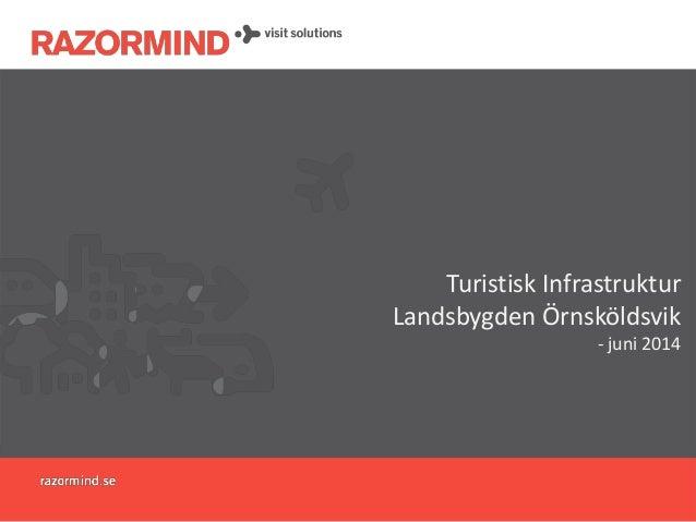 Turistisk Infrastruktur Landsbygden Örnsköldsvik - juni 2014