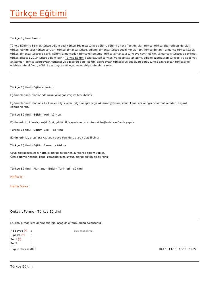 Türkçe EğitimiTürkçe Eğitimi TanımıTürkçe Eğitimi : 3d max türkçe eğitim seti, türkçe 3ds max türkçe eğitim, eğitimi after...