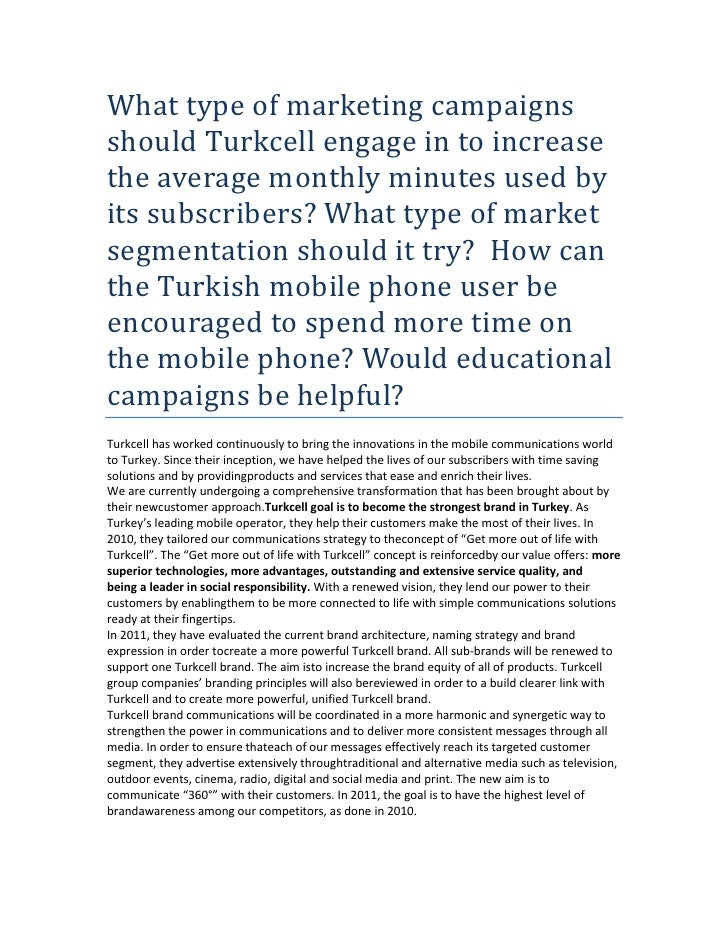 strategic management turkcell Business & management / strategic management / cases: strategic management and business policy § turkcell: the.
