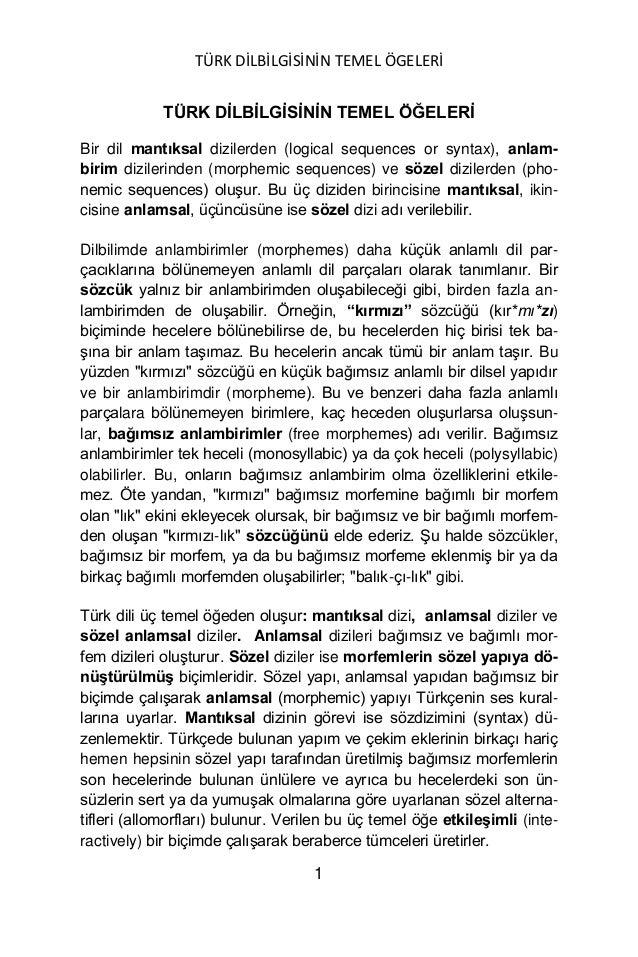 Turk dilbilgisinin temel ogeleri yuksel goknel signed Slide 2