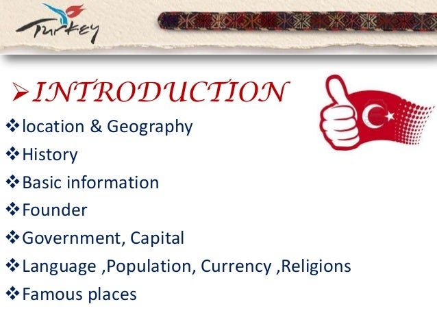 introduction to turkey Slide 2