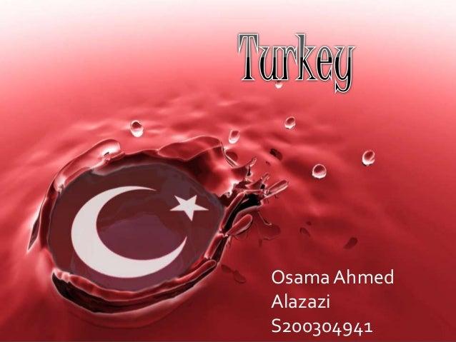 TURKEY  Osama Ahmed  Alazazi  S200304941