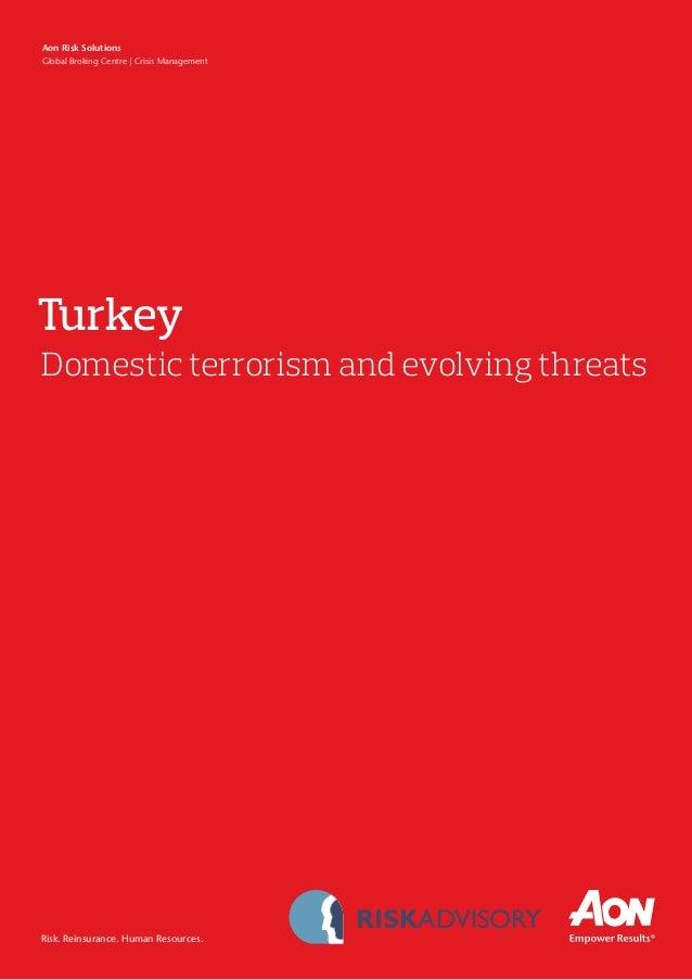 Turkey Domestic Terrorism & Evolving Threats