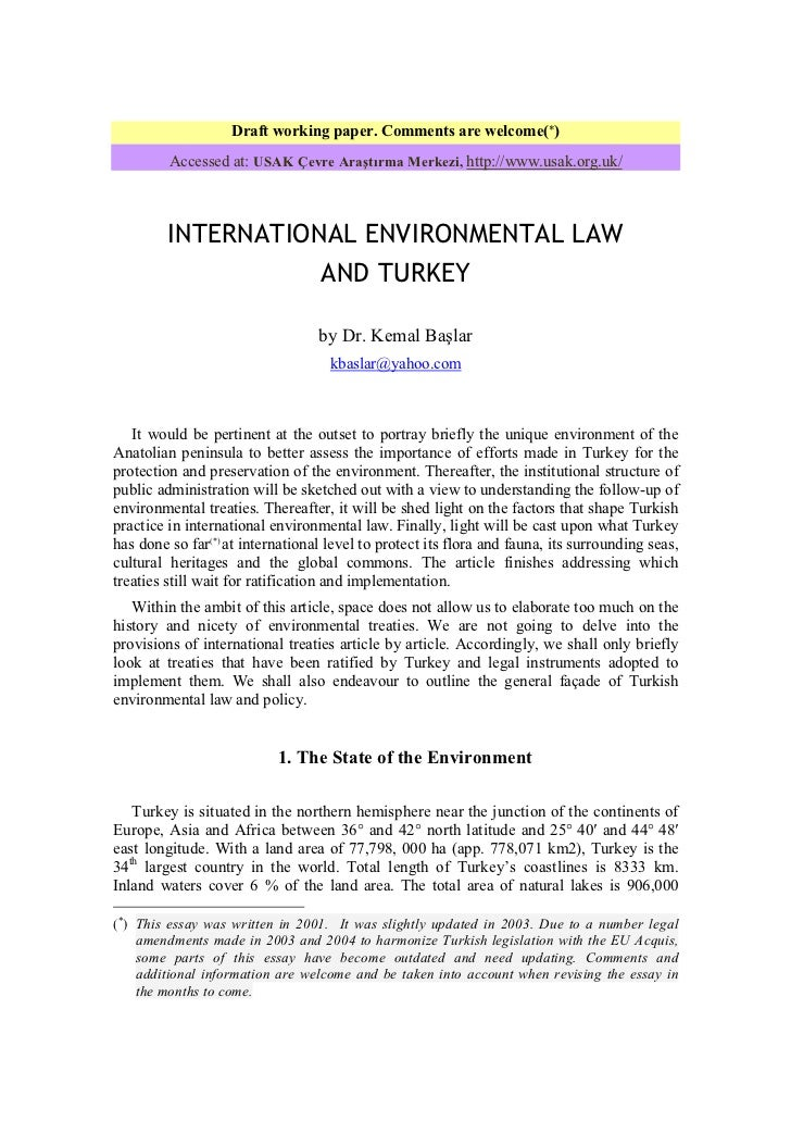 Dissertations on environmental law