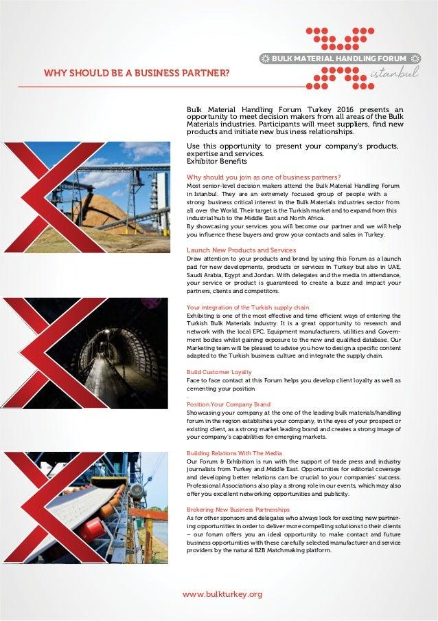 Bulk Material Turkey forum. Slide 3
