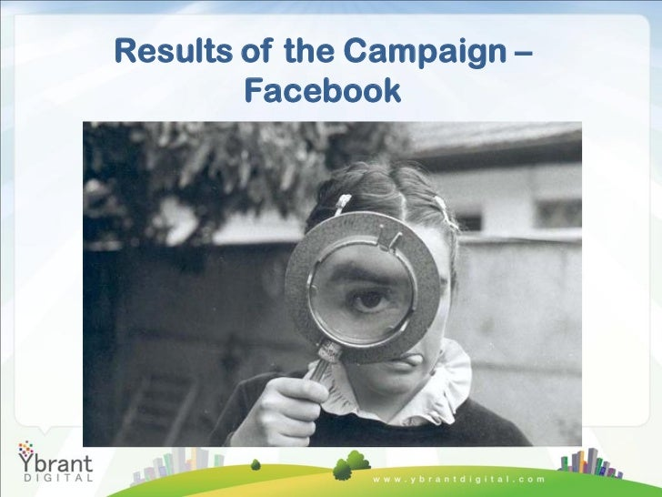 Results of the Campaign –        Facebook