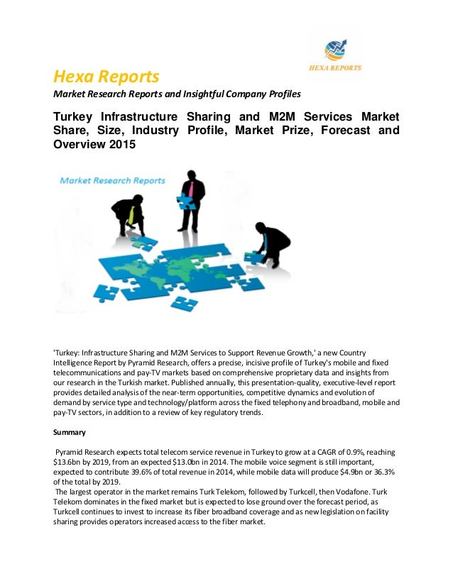 Hexa Reports Market Research Reports and Insightful Company Profiles Turkey Infrastructure Sharing and M2M Services Market...