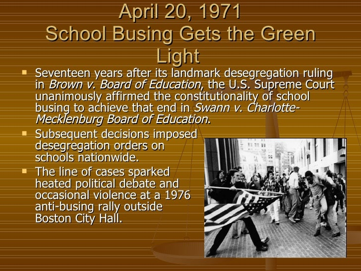 equality in america the advantages of forced busing in the city of boston Start studying history unit 9: civil rights  -king forced the police to jail  in other parts of the city -(boston 1974) court-ordered busing led to two .