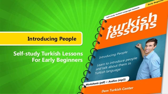 Introducing People Self-study Turkish Lessons For Early Beginners
